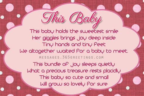 Sweet Baby Shower by Free Sweet Baby Shower Poems 365greetings