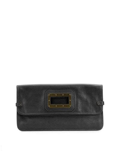 Clutch Pouch Givenchy Tribal High Quality Ori Leather black leather clutch neiman