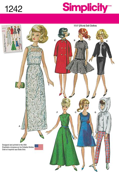 simplicity pattern website simplicity 1242 vintage doll clothes for 11 1 2 quot doll