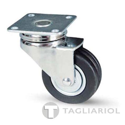 ufficio per l impiego pordenone ruota rotante per mobili nera 50x18mm con piastra avo 150