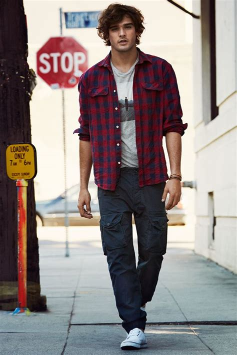 Casual Trend Alert Plaid Shirts Andjeans by Checked Shirt Graphic And Blue Cargo