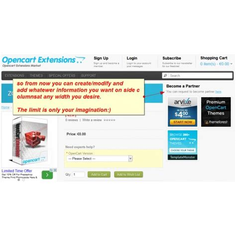 layout creator opencart opencart custom page layouts for any page v1 5 x v2 x