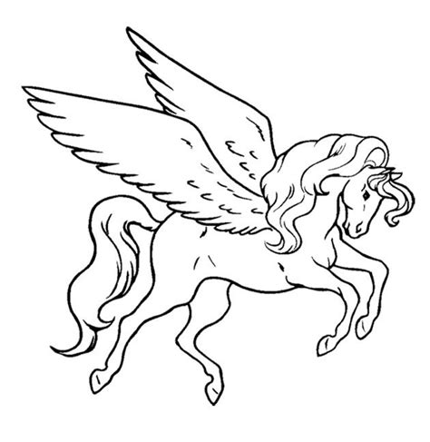 Flying Unicorn Coloring Pages unicorn flying coloring page for coloring
