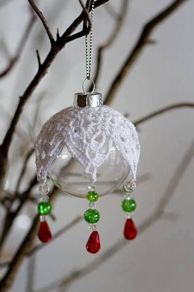crocheted ornament cover christmas ornaments to make
