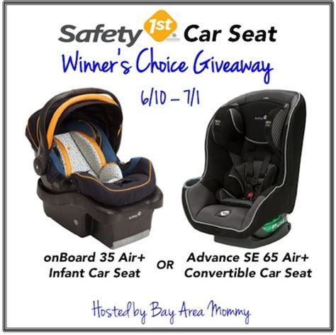 Safety Giveaway Ideas - safety 1st car seat giveaway the bandit lifestyle