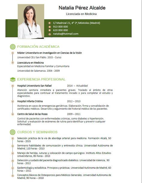 Modelo Curriculum Medico España Elaboraci 243 N Curriculum De M 233 Dicos O Enfermeras Plantillas De Cv Para Hospitales Cvexpres