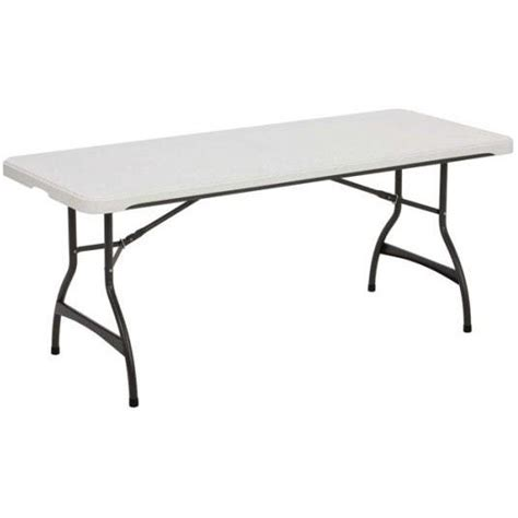 white folding table 6 ft lifetime products 6 ft white folding table