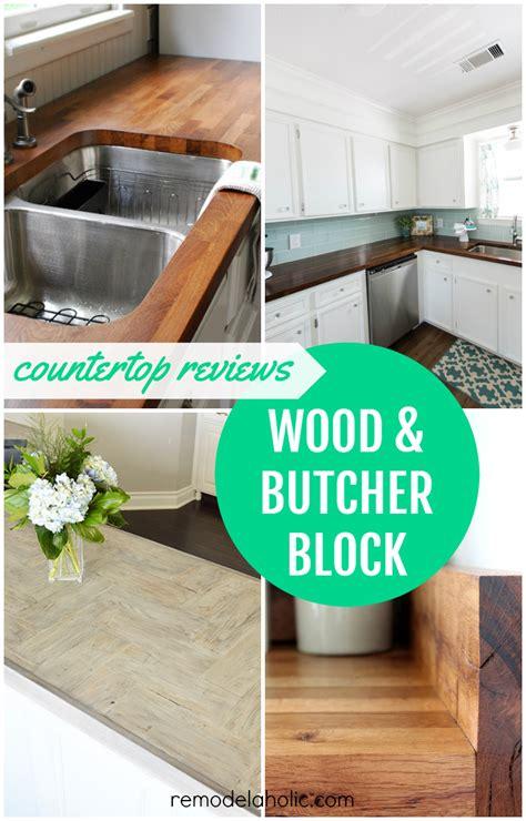 remodelaholic diy butcher block wood countertop reviews