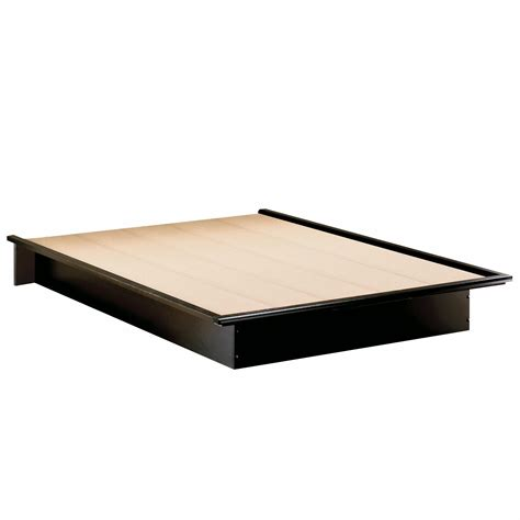 south shore platform bed south shore step one full platform bed 54 quot in pure black