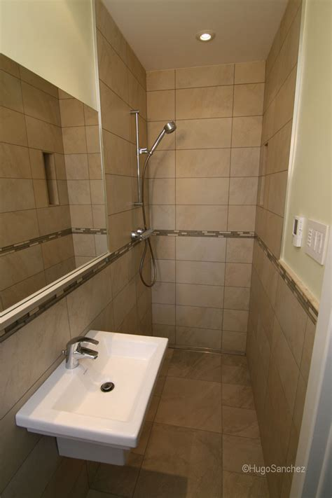 small bathroom open shower open doorless shower c 233 ramiques hugo sanchez inc