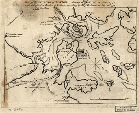 boston map 1775 fortifications built during the siege of boston