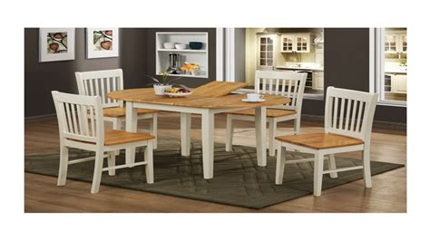 wooden white legs dining table and 4 chairs homegenies