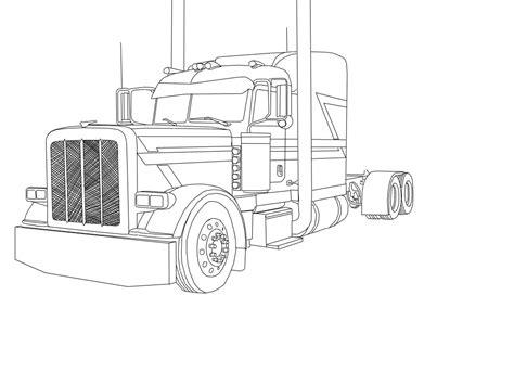 Peterbilt Coloring Pages peterbilt semi truck coloring pages sketch coloring page