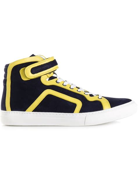 hardy mens sneakers hardy high top sneakers in blue for lyst
