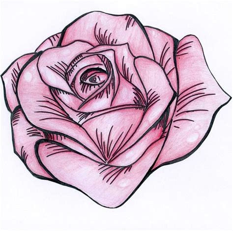 rose tattoo comics stencil pink by nat269 on deviantart