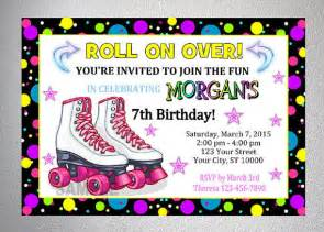 rollerskating invitation printable from dpiexpressions on