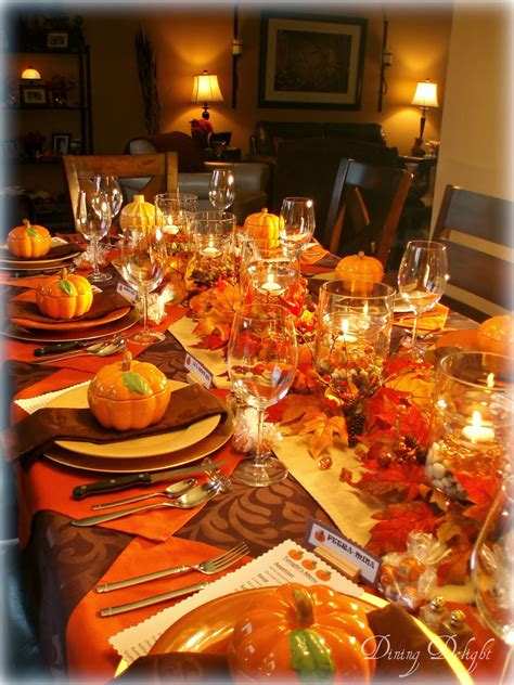 thanksgiving table dining delight fall dinner party for ten