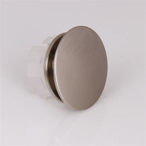 Kitchen Sink Cap Elite 007bn Ceramic Sink Overflow Cap Solid Brass Umbrella Style Brushed Nickel Bathroom Sinks
