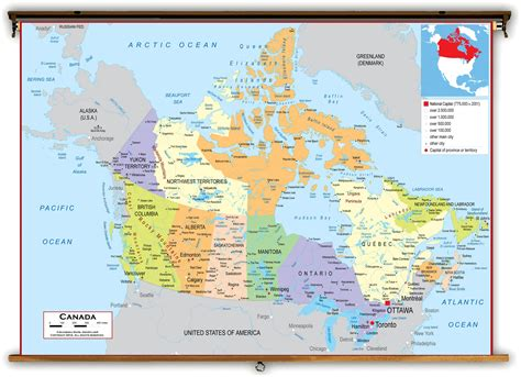 map of canada canada political classroom map from academia maps