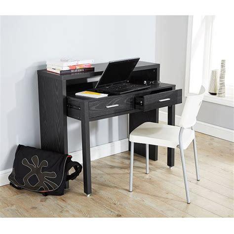 Console Table Computer Desk Regis Extending Console Table Computer Desk Study Table Retractable Shelf Black