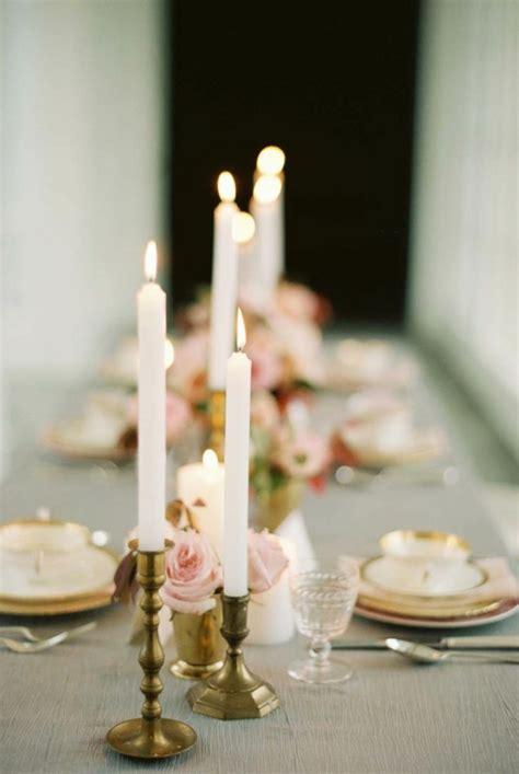 kerzenständer für lange kerzen hochzeitskerzen romantische warme licht archzine net