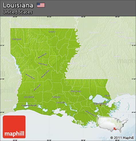 physical map of louisiana free physical map of louisiana lighten