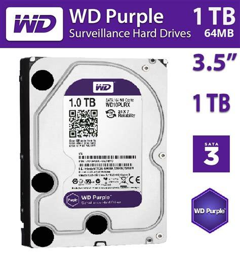 Hardisk Wd Purple 1tb western digital wd 1tb purple surveillance hdd 3 5 sata 6gb drive ebay