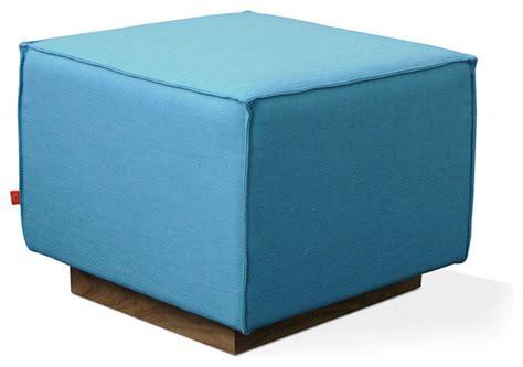 modern cube ottoman gus modern kipling ottoman in muskoka surf modern