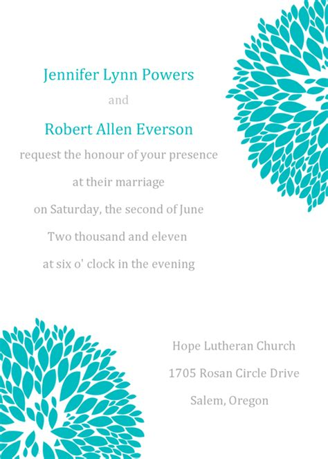 print your own wedding invitations templates free print your own wedding invitation templates