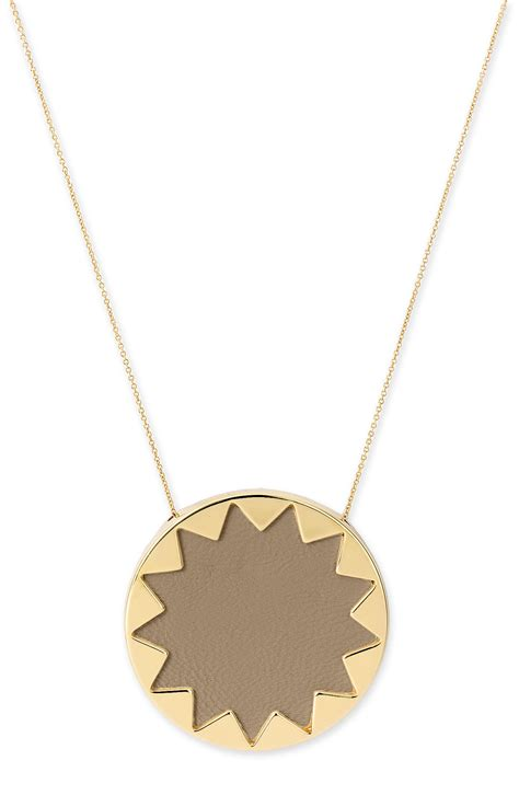 House Of Harlow Jewelry house of harlow 1960 sunburst pendant necklace in gold