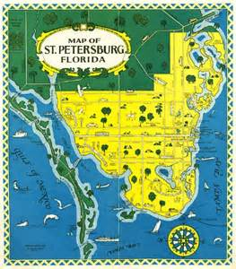 map of petersburg florida mid 1900s