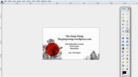 gimp templates custom business card in gimp 2 8 by the gimpwimp