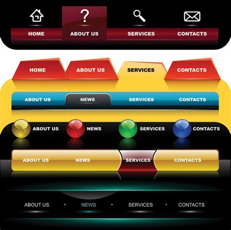 html design navigation bar 4 designer several special navigation bar menu vector