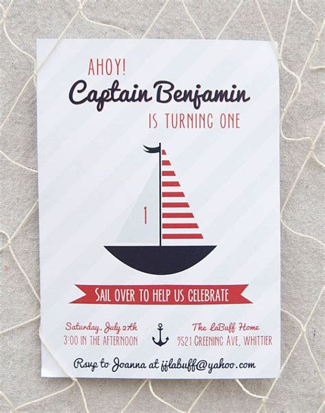 printable birthday cards etsy nautical birthday invitation printable by paigesofstyle on