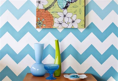 stencil how to ombre chevron stripe pattern paint pattern
