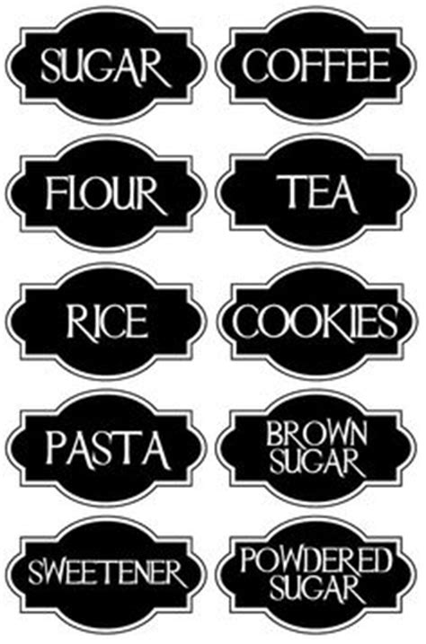 kitchen pantry printables on pinterest pantry labels
