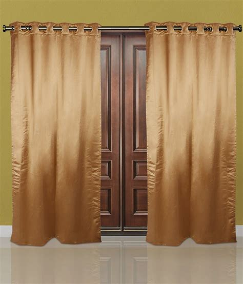 Brown Linen Curtains Just Linen Brown Polyester Door Curtain Buy Just Linen Brown Polyester Door Curtain At