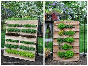 Vertical Pallet Gardens The Garden Roof Coop Diy Vertical Pallet Garden
