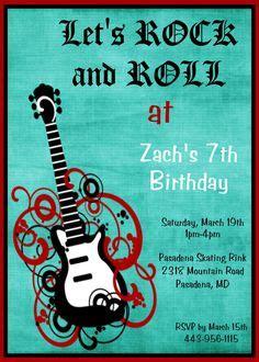images  landons  rock star birthday  pinterest rock stars guitar cake