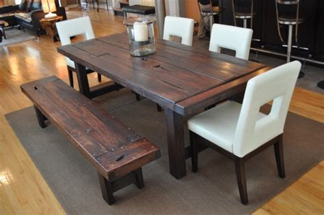 how to make your own dining room table dining room table with bench lightandwiregallery com
