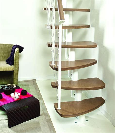 fontanot zen space saving stair kit white metal work dark havana birch plywood beech treads