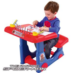 Spider Sitting At Desk by Buy The Amazing Spider Sit And Play Desk At Home Bargains