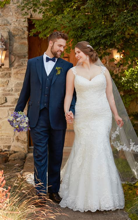 Dress Big Size Fit Beaded Fit And Flare Plus Size Wedding Dress With Silver