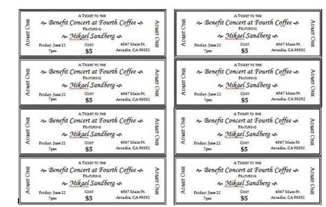 doc 600398 event ticket templates make your own