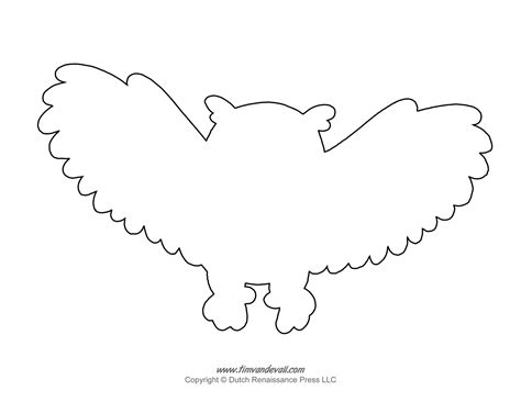 printable outline of an owl owl outline tim s printables