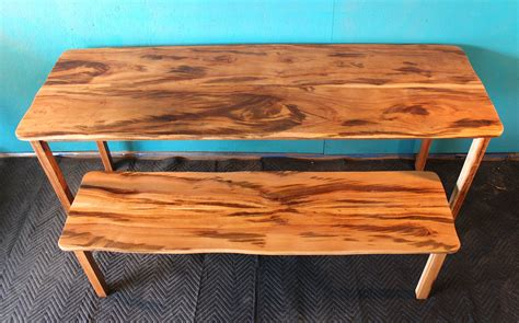 tiger woods bench hand made tiger wood dining table with matching bench in