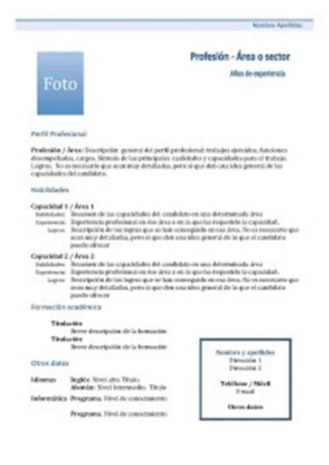 Plantilla De Curriculum Vitae Tematico Cv Funcional Modelos Y Plantillas Modelo Curriculum
