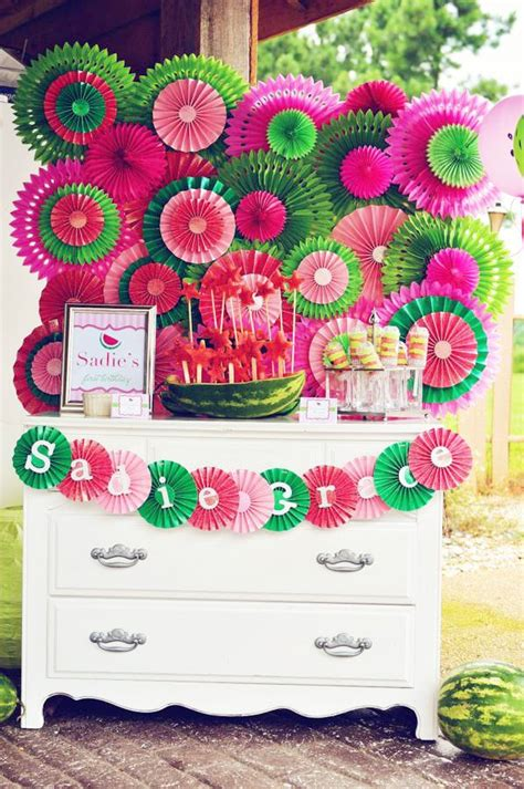 Decorating Ideas With Streamers Best 25 Watermelon Decorations Ideas On