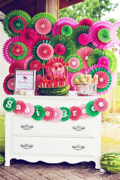1st birthday theme decorations 25 unique watermelon decorations ideas on