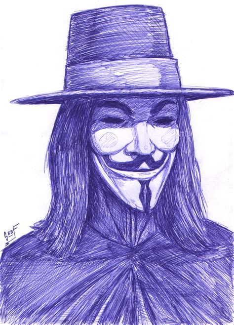 Drawing V For Vendetta by V For Vendetta Speed Drawing By Foreverzerodragon On